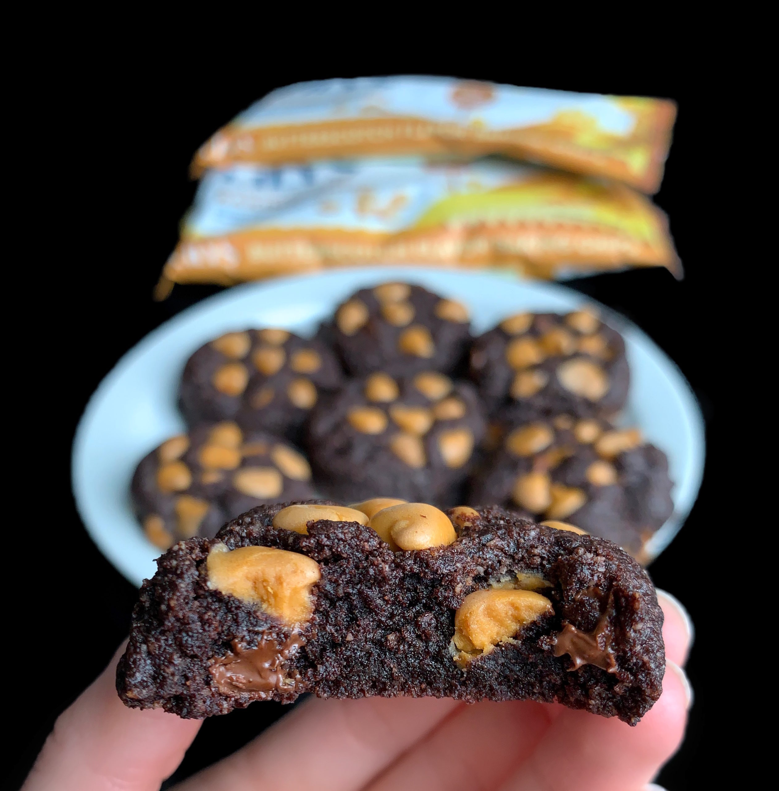 Keto sugar free chocolate butterscotch cookies